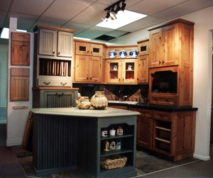We also install kitchen cabinetry like this ...