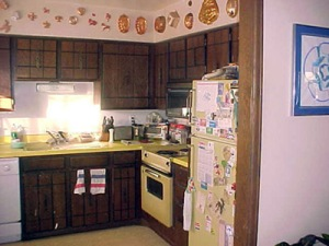 This kitchen was no bigger than a walk-in closet