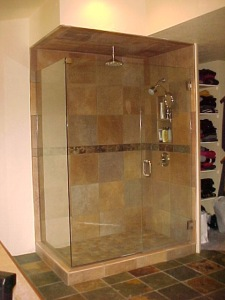 with this custom Euro-style shower