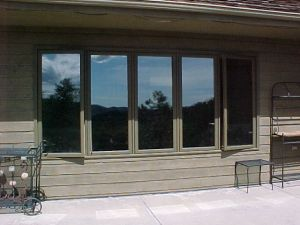 We replaced these south facing windows in the dinning room ...
